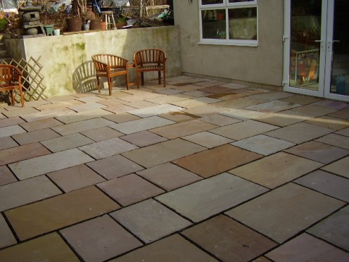 Indian Sandstone, a beautiful addition.
