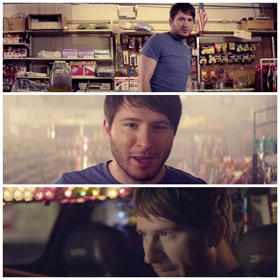 Adam Young (Owl City) plays a romance-deprived male in his 'Deer in the Headlights' music video.