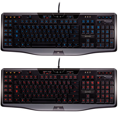 Logitech-Gaming-Keyboard-G110-red-blue-backlighting