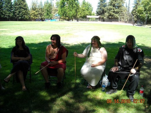 Lammas 2010. We were doing a play