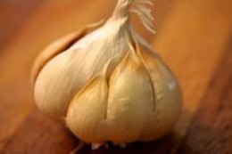 Garlic Bulb with loose skin removed