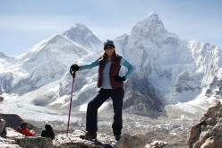 Yep, that's me at the top of Kala Pattar with Everest in the background!