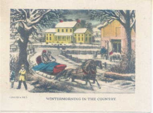 "Winter Morning in the Country Note card, 4""by 3"".1940s;P.L.B.166"