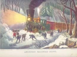 American Railroad Scene print; Donald Art Co. reproduction