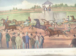 First Trot of the Season, 1962 Travelers Insurance calendar page.