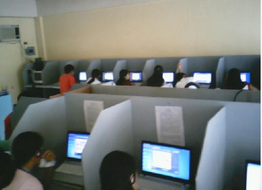 This computer lab at etesda psat laboratory contains 26 laptops and one server.