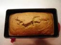 Pumpkin bread in loaf pan