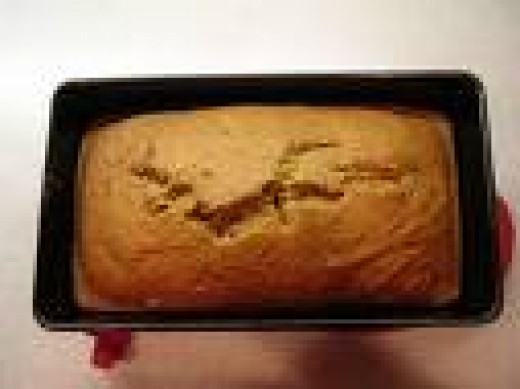 Pumpkin bread in loaf pan