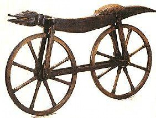 The Earliest Bicycle  1790   The celerifere, one of the earliest bike prototypes, had no pedals or steering.
