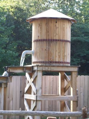 Yes, apparently out of an act of survival and thriftyness, I built a wooden water tower in my dream. Halarious.
