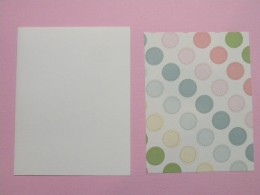 White base card with Printed Cardstock background