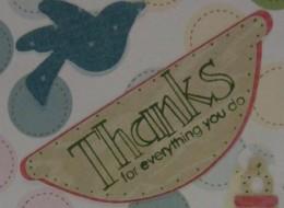 """Stampin'Up! Stamp """"Thanks"""""""
