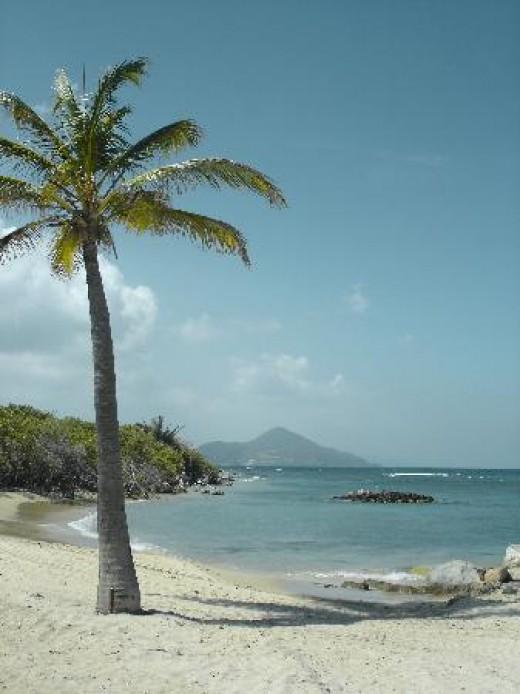 """Nisbet Beach where white as in """"white sand"""" is literal"""