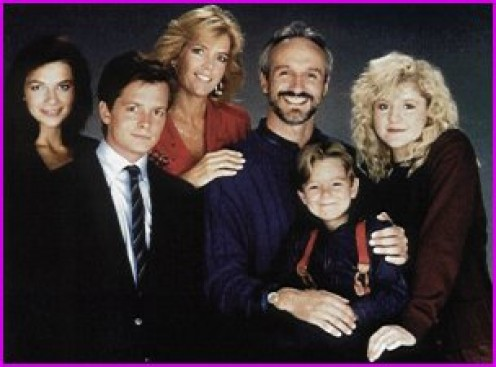 The Keatons (from left) Justine Bateman, Malory; Meredith Birney, Elyse; Michael Gross, Stephen; Tina Yothers, Jennifer; Michael J. Fox, Alex and Brian Bonsall, Andrew.