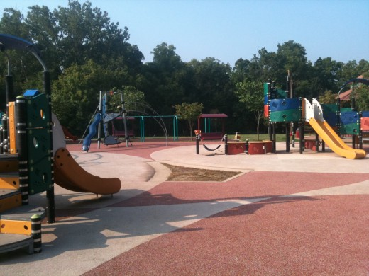 Playground at Millennium Park, in Creve Coeur, MO