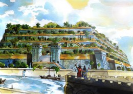 What the Gardens of Babylon are believed to have looked like.