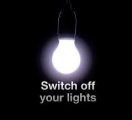 Remember to turn off your lights when you leave a room!