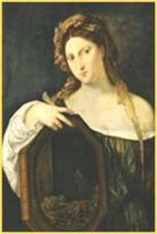 Profane Love  (Vanity  with her mirror) Tiziano Vecellio  1488/901576-08-27