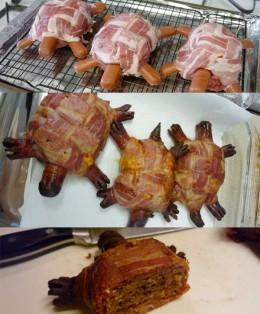 Redneck turtle burgers
