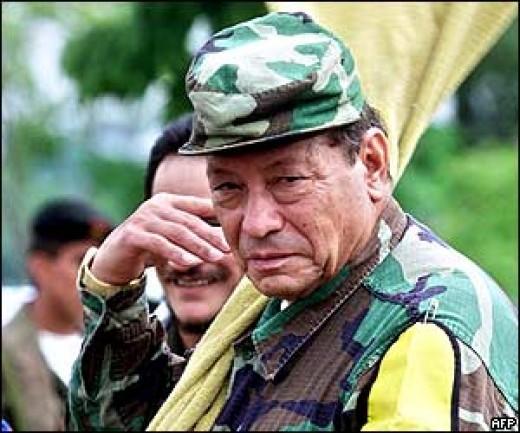 "Manuel ""Tirofijo"" Marulando, founder of FARC"
