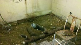 Iron Pipe In The Basement