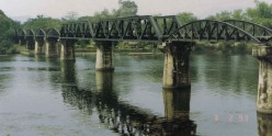 The Death Railway Over Kwai River - Bridge of Kwai Built With Forced Labor by The Prisoners of War