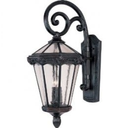 Maxim Lighting 40255CDOB Essex Vivex 3-Light Outdoor 27.5-Inch Wall Mount, Oriental Bronze Finish with Seeded Glass  image credit: amazon