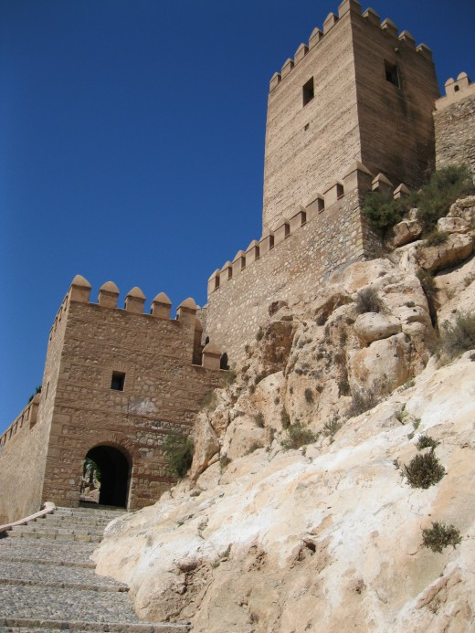 A view of the Alcazaba in Almeria