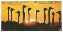 Full cover(front and back) of Milt Jackson's 1973 CTI release 'Sunflower'.