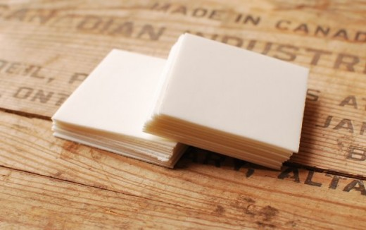 Pro Polish pads are frequently used to finish a blank after letters are colored in with a Sharpie.