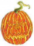 Learn to draw a Halloween pumpkin for Halloween.