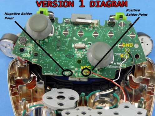 xbox 360 controller l e d mod hubpages power controller circuit positive negative pole wiring diagram