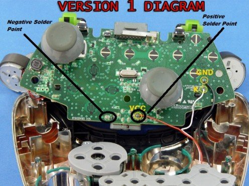 xbox 360 controller l e d mod hubpages xbox 360 connections diagram positive negative pole wiring diagram