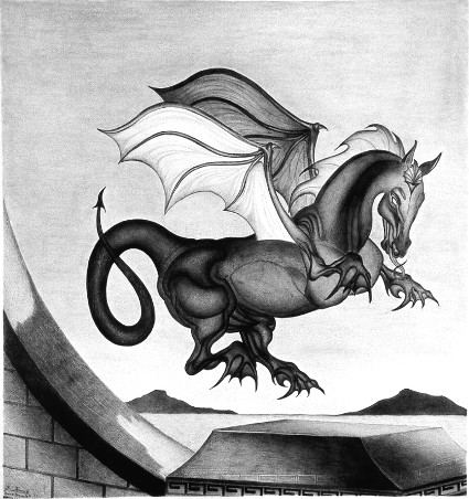 """Equus Draconis"" Dragon Mammal Photo Of Original Drawing (c) 2011 Robert G. Kernodle"