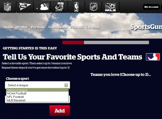 There are more leagues listed at the top of the screen than listed in the drop-down box.