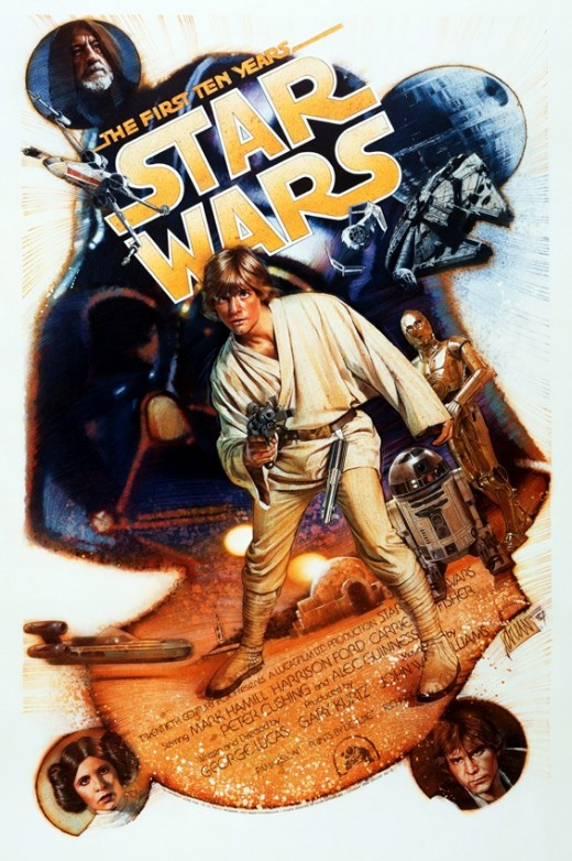 Star Wars 10th Anniversary art by Drew Struzan