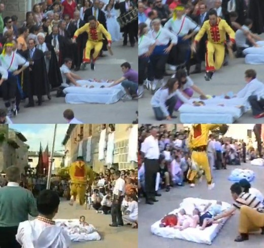 Baby Jumping Festival in Spain