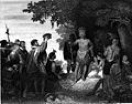 First Contact between Iroquois Indians and Europeans