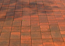 A commemorative brick pathway leads visitors on a tour through the history of US Veterans from the 20th Century. Too many bricks honor those fallen soldiers who made the ultimate sacrifice.