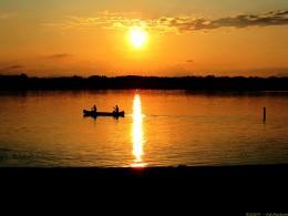 Canoeing on Whipple Lake.