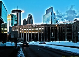 An absolutely frigid Minneapolis morning. A 3 shot autobracketed HDR- +/-1.