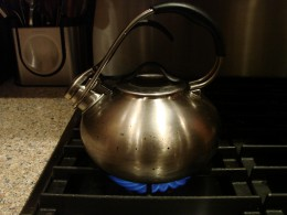 Boil 32 oz. of water