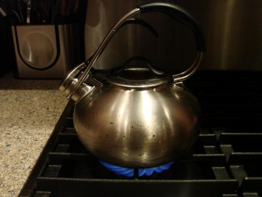 Boil 32 oz. of water
