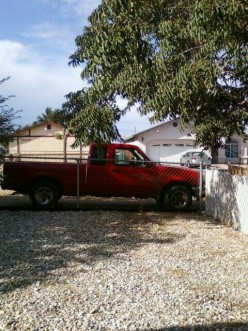 The infamous red truck.
