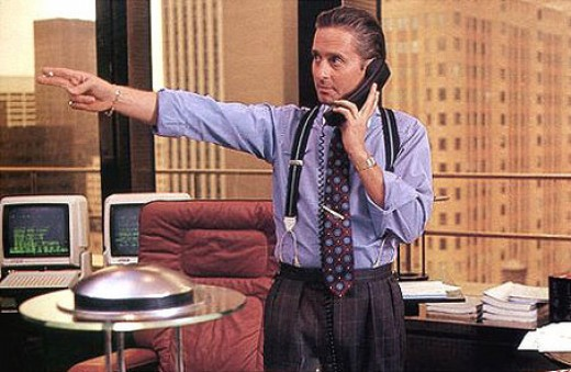 Gordon Gekko from the movie Wall Street