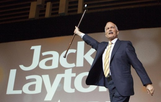 As NDP leader Jack Layton delivered a keynote speech at the party's 50th Anniversary