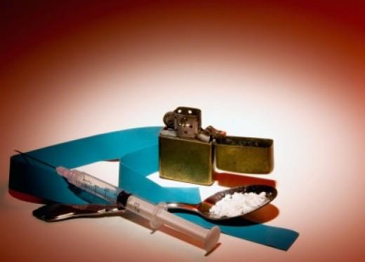"""Heroin user kit or """"works"""""""