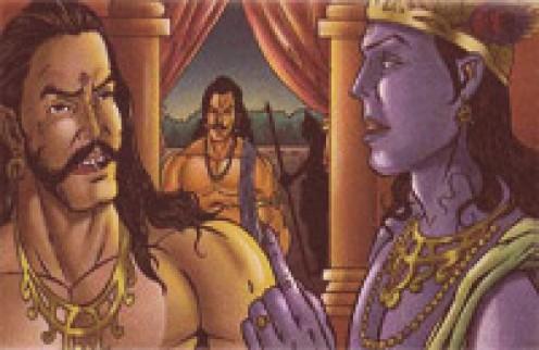 Duryodhana speaks out to Krishna