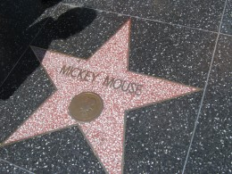 "Mickey Mouse's ""Star"" on the Hollywood Walk of Fame (located near Madame Tussaud's)."