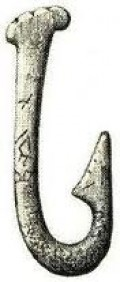 Magdalenian fish hook